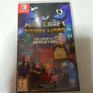 Nintendo switch game Minecraft story mode