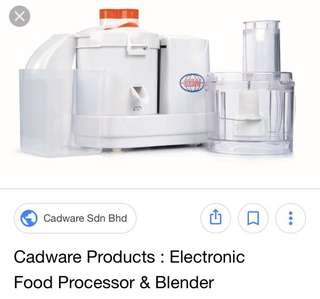 Processor and blenders