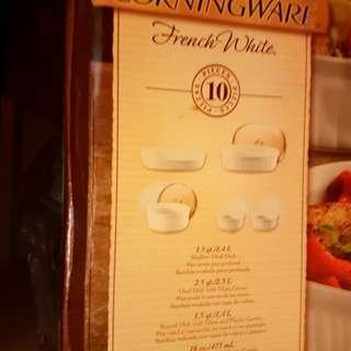 Corning Ware French white bakeware 10pc set