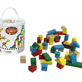 80-pc building blocks in a bucket