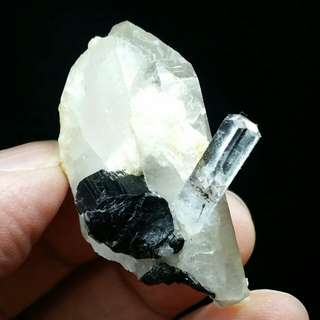 Aquamarine Quartz Tourmaline Crystal