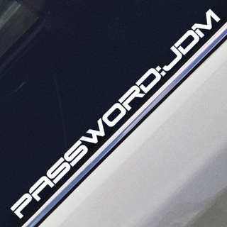 Password JDM Car Sticker Decal