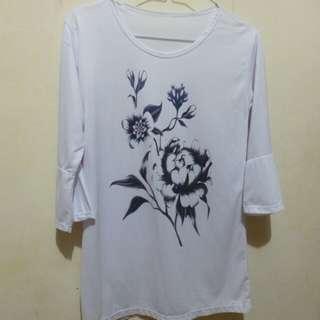 Flower Blouse White EY