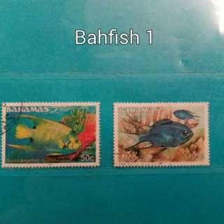 1986 Bahamas stamps, fish