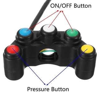 5 Buttons handlebar Light Switch for Fog light/Horn