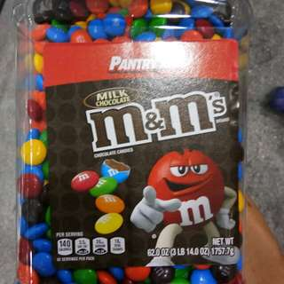 M&m's peanut and milk chocolate