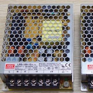 MeanWell Switching Power Supply DC12V 100W