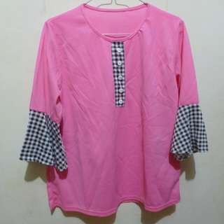 Square Blouse Pink