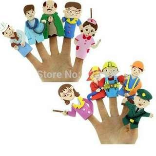 Community helpers finger puppet