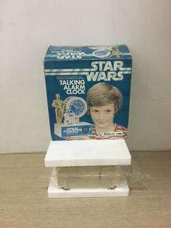 Vintage Star Wars Bradley clock