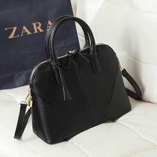 Zara Saffiano Leather Mini-City Bag