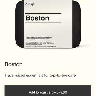 Aesop Boston Travel Kit + FREE GIFTS