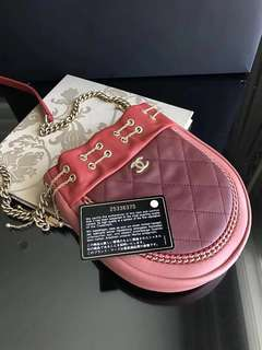 Real Chanel bag pink