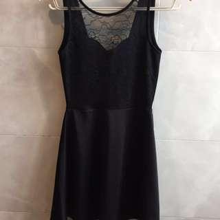 🚚 H&M全新-性感露背-黑色短洋裝
