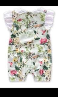 Floral Romper 100% Cotton