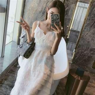 🚚 超仙的氣質性感流蘇洋裝