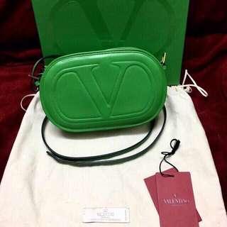 Real V logo signature crossbody bag