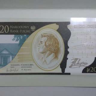 Poland commemorative banknote - 200anniversary of birth of Chopin