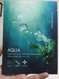 nature republic aqua collagen mask
