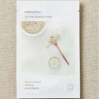 ❤️INSTOCKS❤️ Innisfree My Real Squeeze Mask [Oatmeal]-$1.30