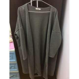 【喵喵二手專區】 灰色長版外套 二手衣 便宜出售