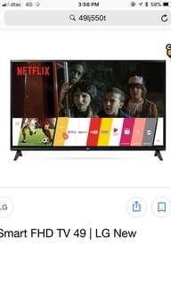 LG 49 inch FHD Smart Tv
