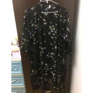 【喵喵二手專區】黑色透明長版罩衫 二手衣