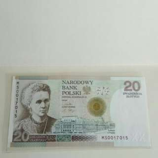Poland Commemorative banknote - 100 anniversary of Curie's nobel prize