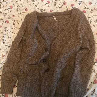 Vintage brown cardigan