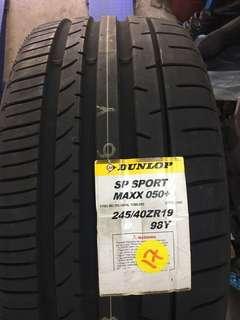 245/40R19 & 275/35R19 Dunlop Sport Maxx 050+