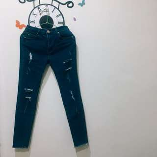 (二手)深藍彈力牛仔褲