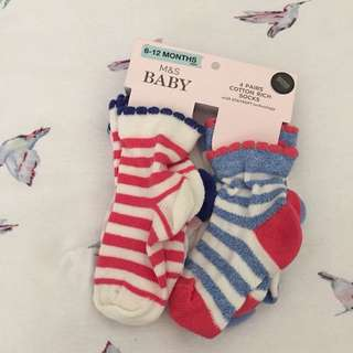 M&S baby socks 6-12mos