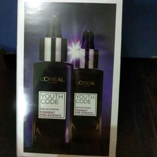 L'Oreal youth code ferment pre-essence (2枝) 免稅店版