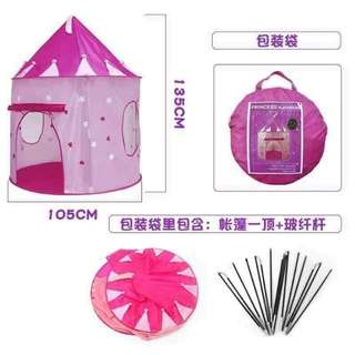 Glow in The Dark Princess Castle Tent