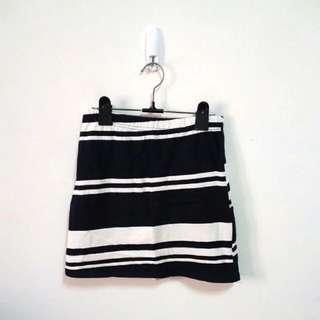 正韓 雙色條紋針織短裙