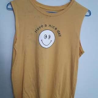 微笑薑黃無袖