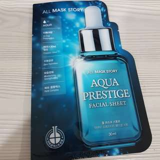 Aqua prestige facial sheet mask