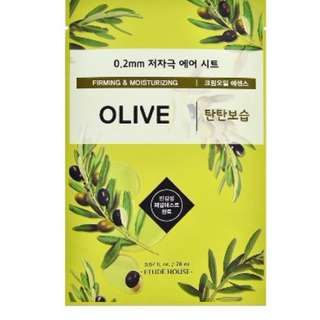 *SG INSTOCK* ETUDE 0.2 THERAPY AIR MASK - OLIVE