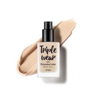 APIEU TRIPLE WEAR FOUNDATION
