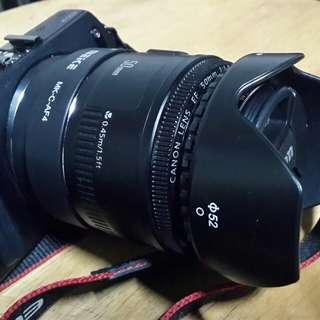 Canon eos m + adapter + canon lens 50mm