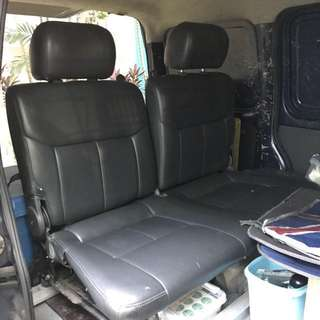 Van back seats