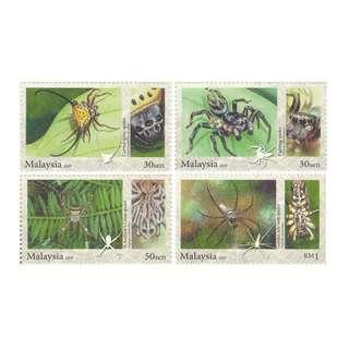 Malaysia 20097 Stamp Week - Arachnids 4V mint MNH SG#1621-1624
