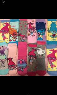 Instock trolls socks for age 5-7yrs old brand new limited stock only !! Gd Quality