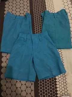 School shorts uniform teal