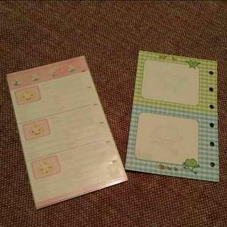 全新 日本可愛 手冊內頁 筆記本 補充頁