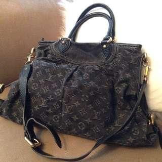 LV monogram denim bag Louis Vuitton 布袋