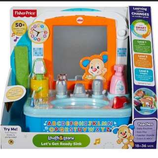 Brand new Fisher-Price Laugh & Learn Let's Get Ready Sink