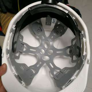 Approved white safety helmet