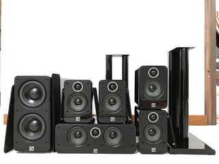 Q-Acoustics 2000i 5.1 Home Cinema (with Speaker Stand)