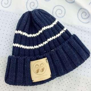 Mooneyes 深藍條紋針織毛帽 男童女童皆適用